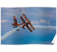 Breitling Biplanes At Airbourne, England Poster
