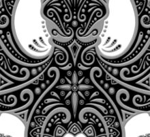 Intricate Dark Octopus Sticker