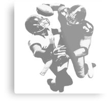 Touchdown Football Player Collection Metal Print