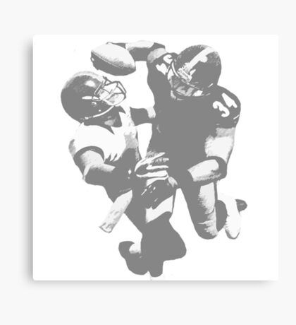 Touchdown Football Player Collection Canvas Print