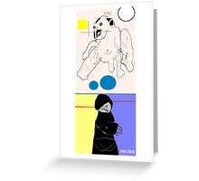 monkey with blue balls Greeting Card
