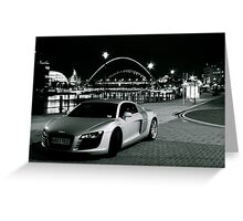 Audi on the Quayside. Greeting Card