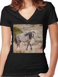 Hoofing it through the Range Women's Fitted V-Neck T-Shirt