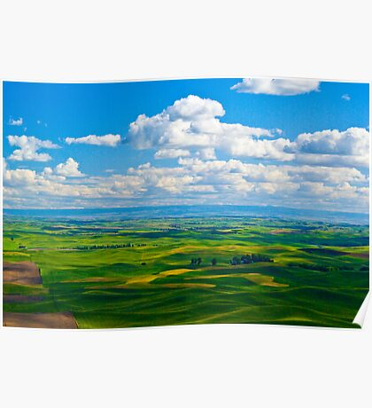The Palouse from Steptoe Butte Poster