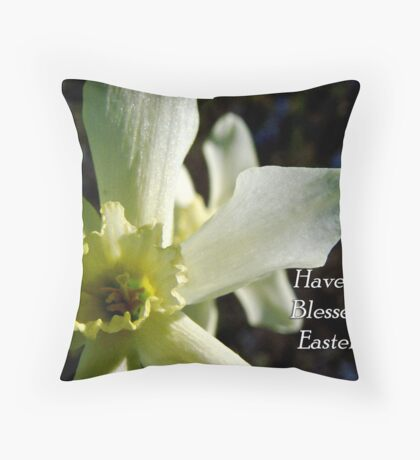 Easter Daffodil Throw Pillow