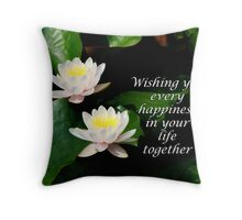 Water Lily Wedding Throw Pillow