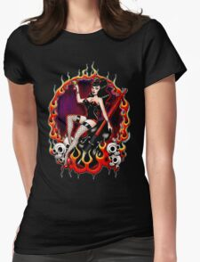 Rockabilly Rockabella (Black) Womens Fitted T-Shirt
