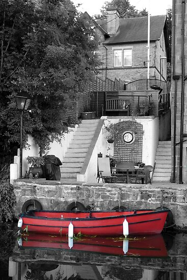 Red Rowing Boat by Colin Metcalf