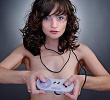 Retro Gamer Grrl by Rahul Saha