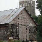 Old Falling Apart Barn with Character by Barberelli