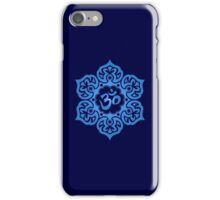 Blue Lotus Flower Yoga Om iPhone Case/Skin