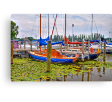 Lakeside Marina Canvas Print