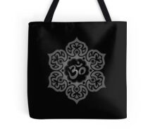 Dark Lotus Flower Yoga Om Tote Bag