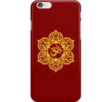 Yellow Lotus Flower Yoga Om iPhone Case/Skin
