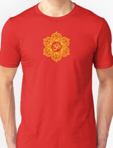 Yellow Lotus Flower Yoga Om Unisex T-Shirt