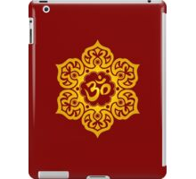 Yellow Lotus Flower Yoga Om iPad Case/Skin