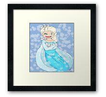 Elsa and the Baby snowmen Framed Print