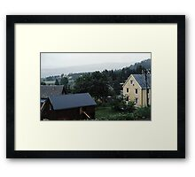 Homes south of Bolna from train Bodo to Trondheim Norway 19840621 0015  Framed Print
