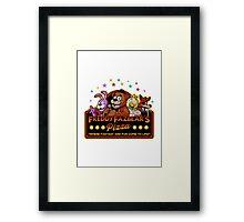 Five Nights at Freddy's Freddy Fazbear's Pizza FNAF logo Framed Print