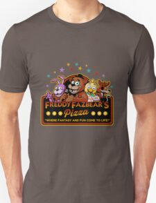 Five Nights at Freddy's Freddy Fazbear's Pizza FNAF logo T-Shirt
