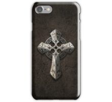 Rough Stone Gothic Cross with Tribal Inlays  iPhone Case/Skin