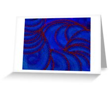 Red Arc Greeting Card