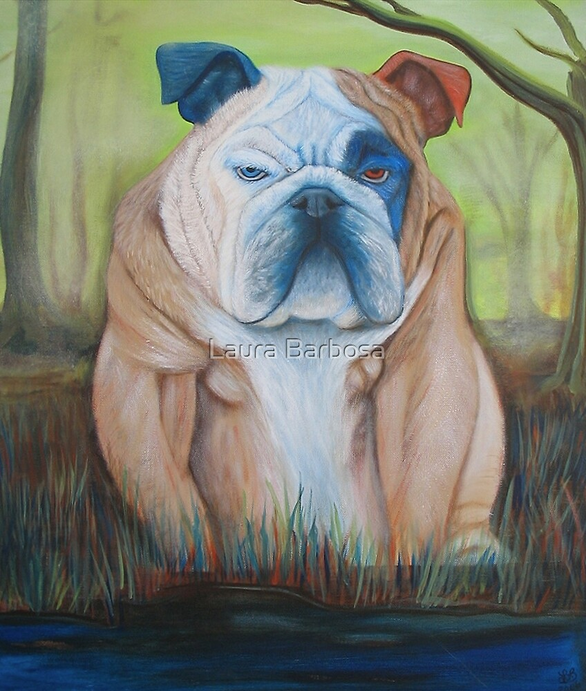 Bulldog In A Bog by Laura Barbosa