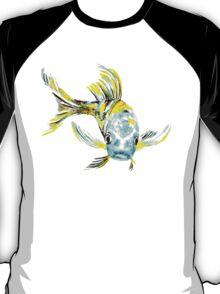 Koi Butterfly Fish Aqua & Yellow T-Shirt