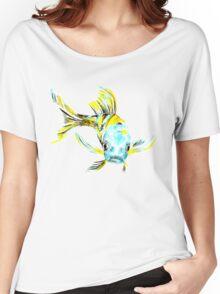 Koi Butterfly Fish Aqua & Yellow Women's Relaxed Fit T-Shirt