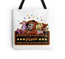 Five Nights at Freddy's Freddy Fazbear's Pizza FNAF logo Tote Bag