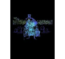 Haunted Mansion Disneyland Hatbox Ghost Disney Photographic Print