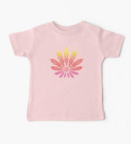 Feather Flower: Neon Sun Baby Tee