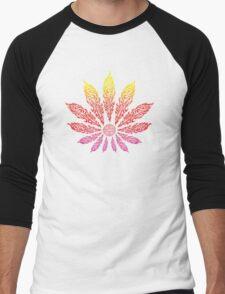 Feather Flower: Neon Sun Men's Baseball ¾ T-Shirt
