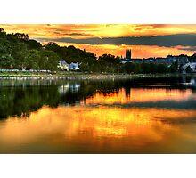 Sunset over Boston College Photographic Print