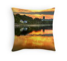 Sunset over Boston College Throw Pillow