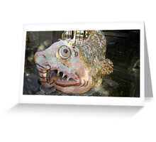 Fish statue,Sanur Bali Greeting Card