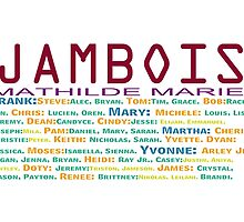 JAMBOIS  NAMES by Doty