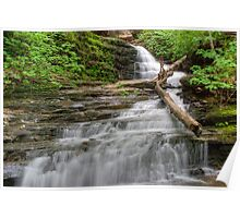 Huron Falls Along The Glen Leigh Trail Poster