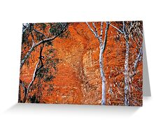 Bungle Trees and Rock Patterns Greeting Card