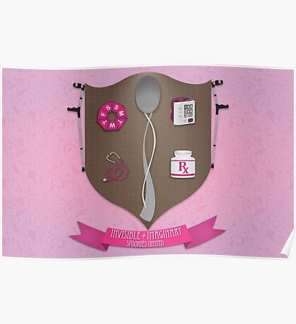 Spoonie Coat of Arms (Pink) Poster