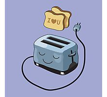 I Love You Toast. Photographic Print