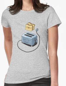 I Love You Toast. Womens Fitted T-Shirt