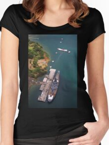 USS Arizona and USS Missouri Women's Fitted Scoop T-Shirt