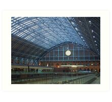 St Pancras Station Art Print