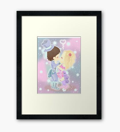 Chibi Love Framed Print
