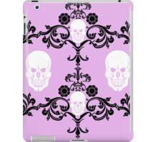 Skull damask in pink  iPad Case/Skin