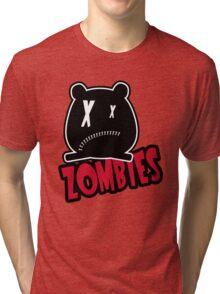 Critter Zombies Red Tri-blend T-Shirt