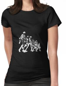 Psycho Pass Unit 1 (White) Womens Fitted T-Shirt