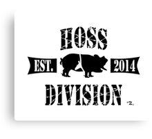 HOSS DIVISION EST. 2014 (WHITE) Canvas Print