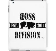 HOSS DIVISION EST. 2014 (WHITE) iPad Case/Skin
